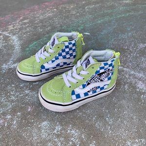 Toddler Green/Blue Vans Hightops